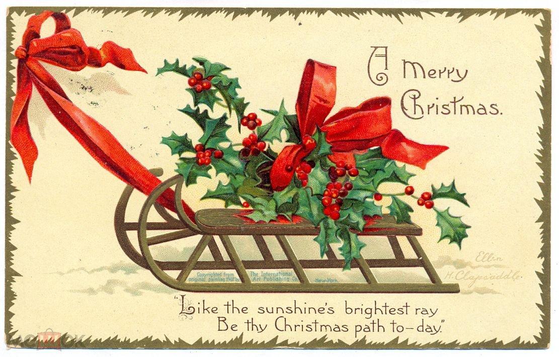 Американские открытки новым годом