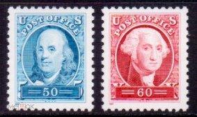 США 1997. Стандарт, Франклин и Вашингтон. Mi # 2830-31. MNH**