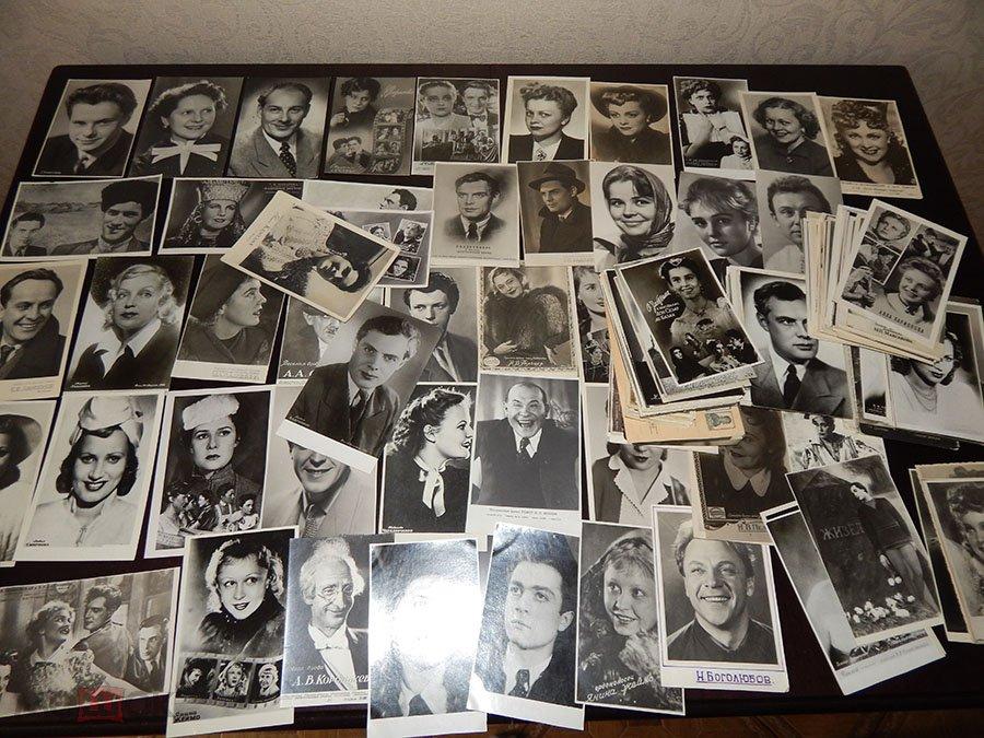 Коллекционеры открыток актеров, открытки ручной работ