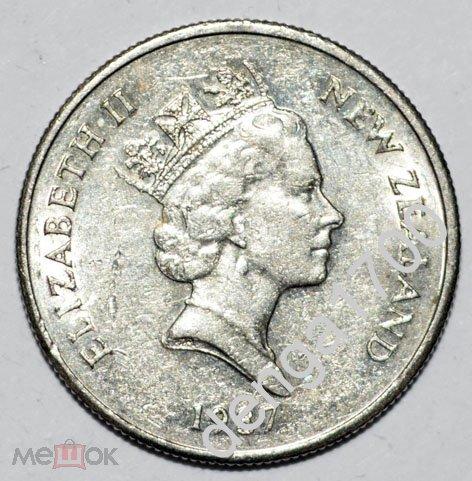 Новая Зеландия. 5 центов 1987г., #355-762