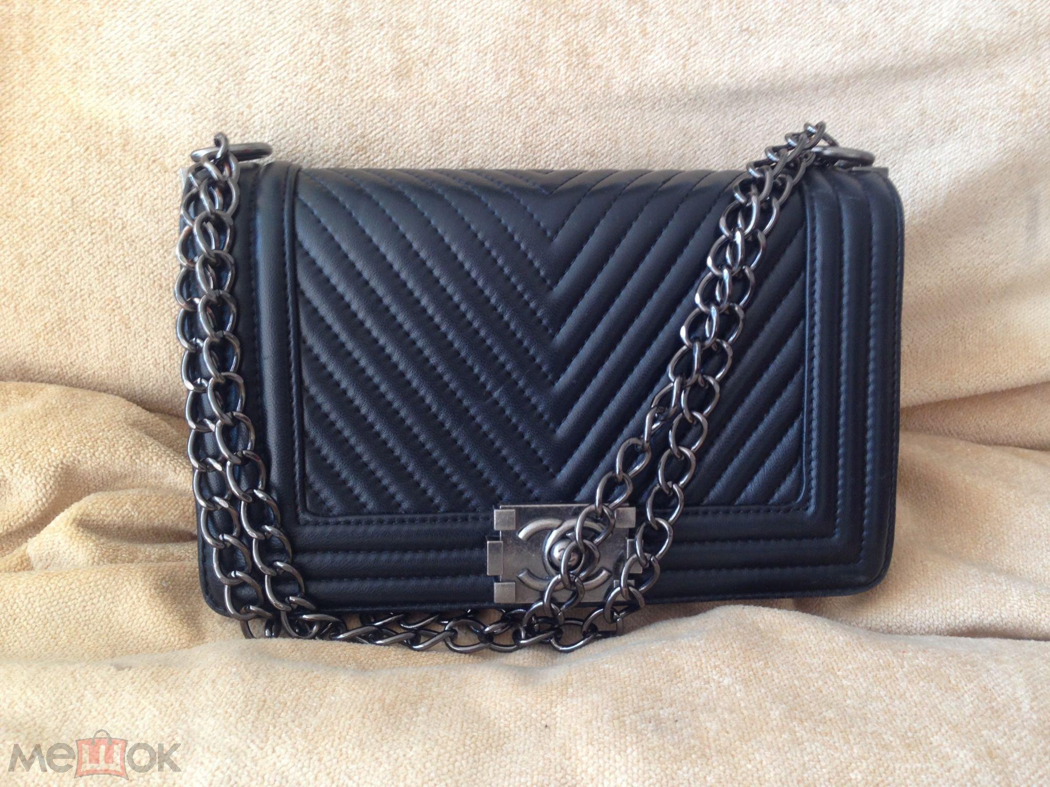 a67c4841 Сумка женская чёрная стильная модная маленькая сумочка с длинной ...