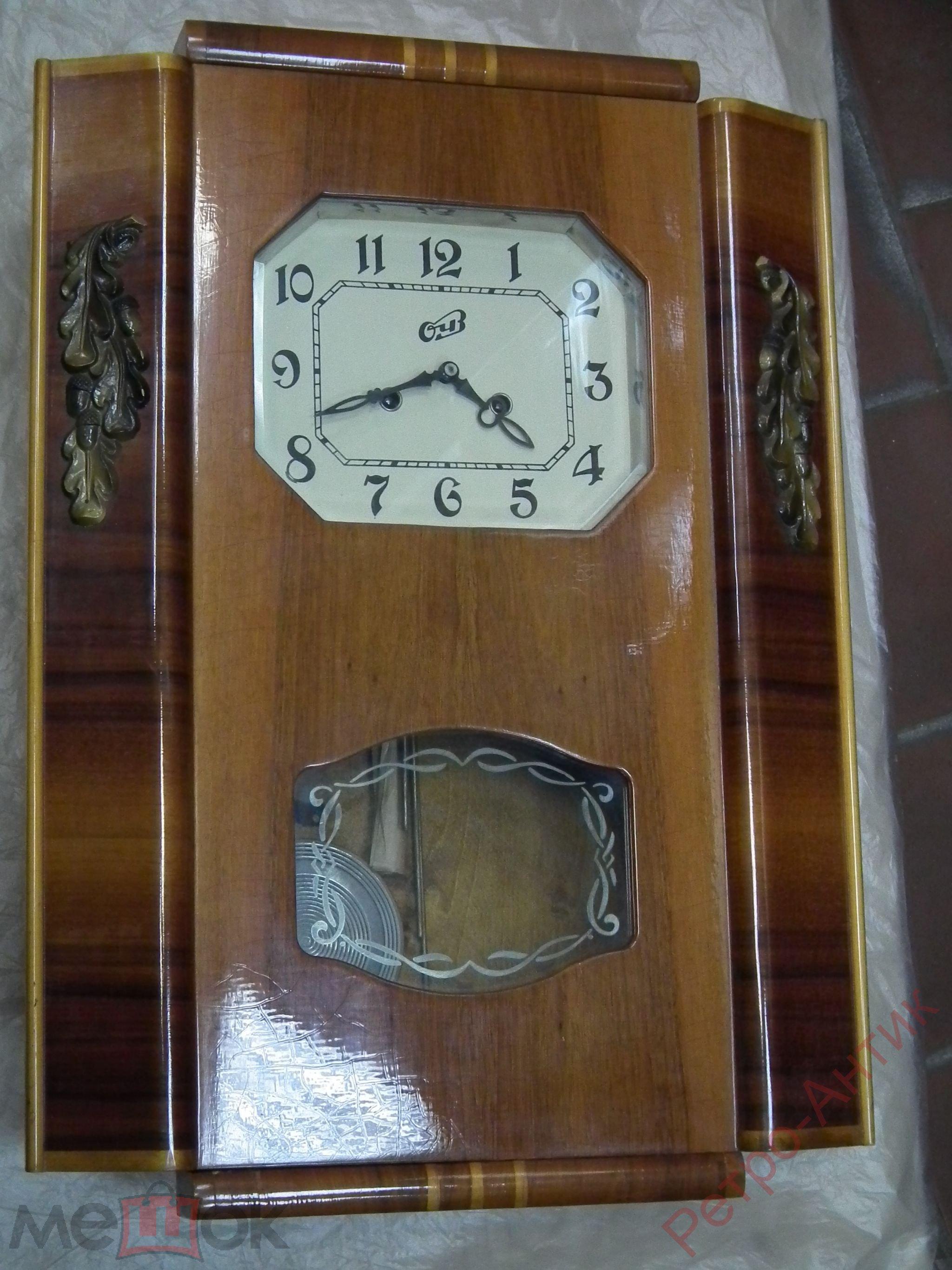 Часы настенные янтарь с боем должны ходить от полной заводки чуть больше двух недель.