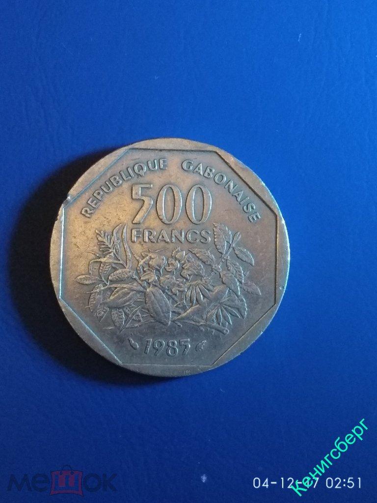 6006. 500 франков 1985 Габон.
