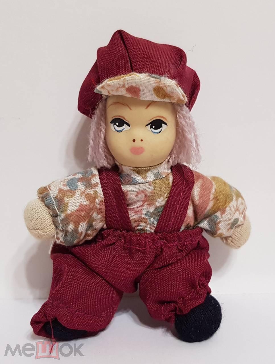 Куколка с фарфоровой головой Германия Ручная работа Винтаж