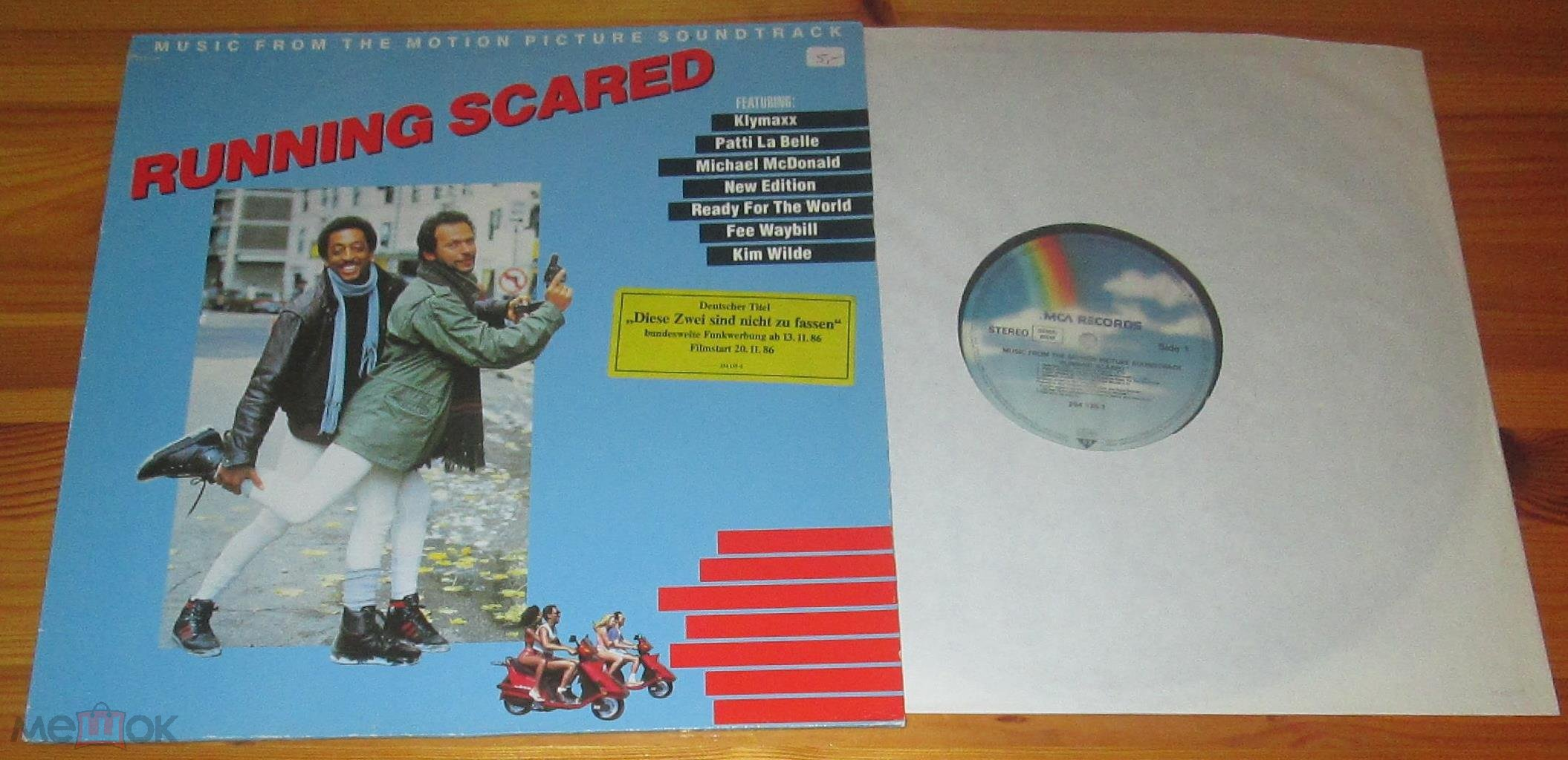 ♫ RUNNING SCARED (Soundtrack) ☀ Kim Wilde, New Edition, Klymaxx ► LP ©℗ 1986 Germany (NM) 15/8