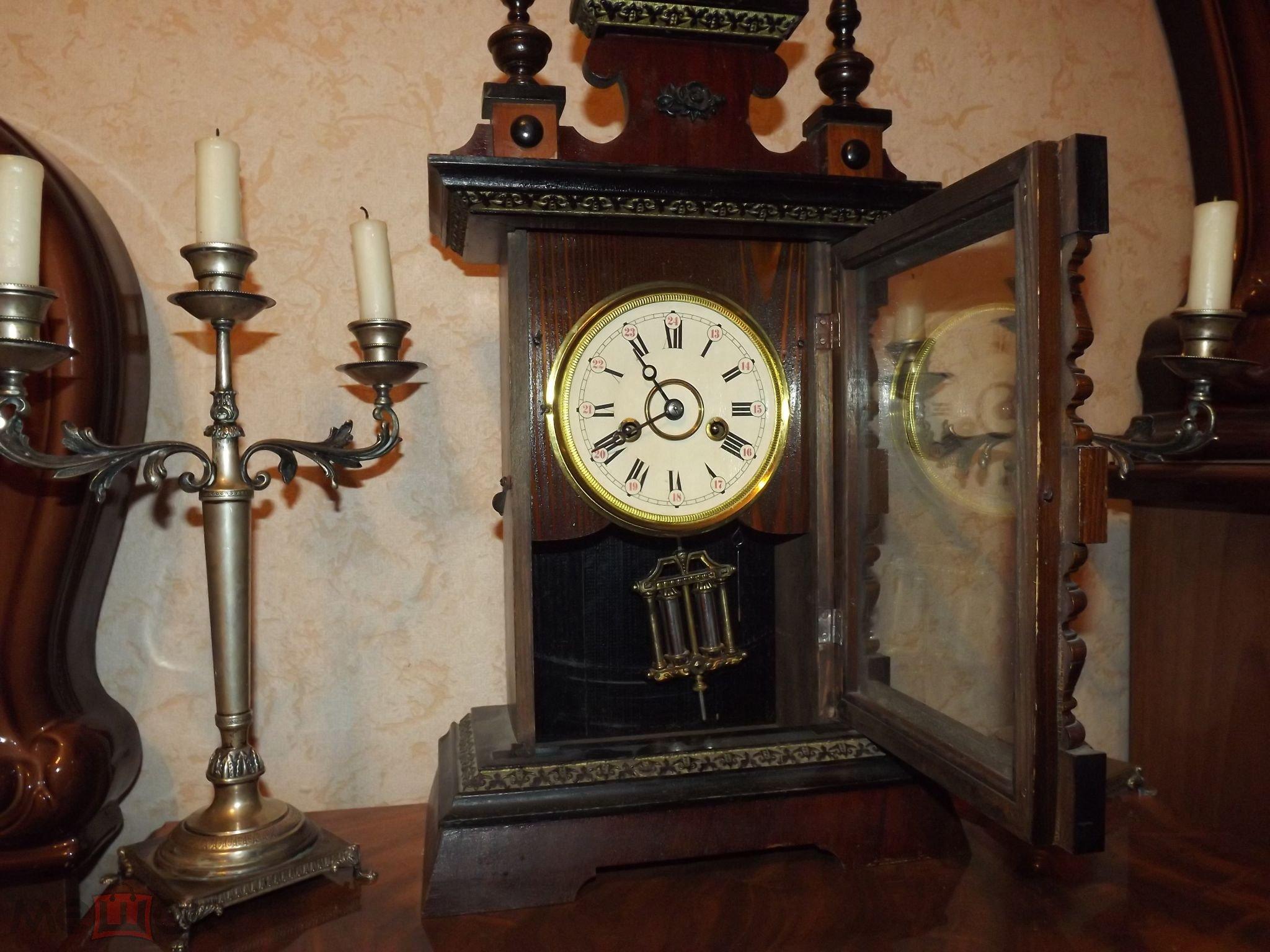 Часы каминные настольные всадник на коне.