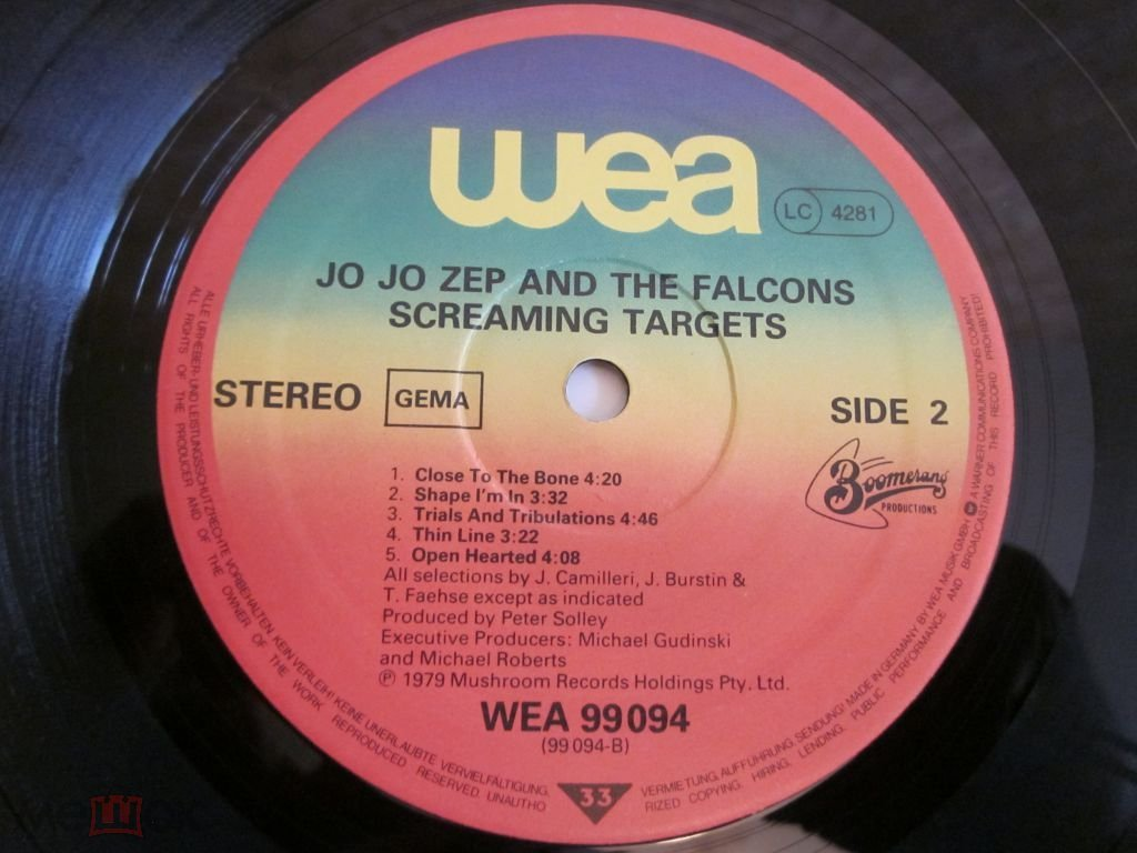 Jo Jo Zep and the Falcons - Screaming Targets (Germany)