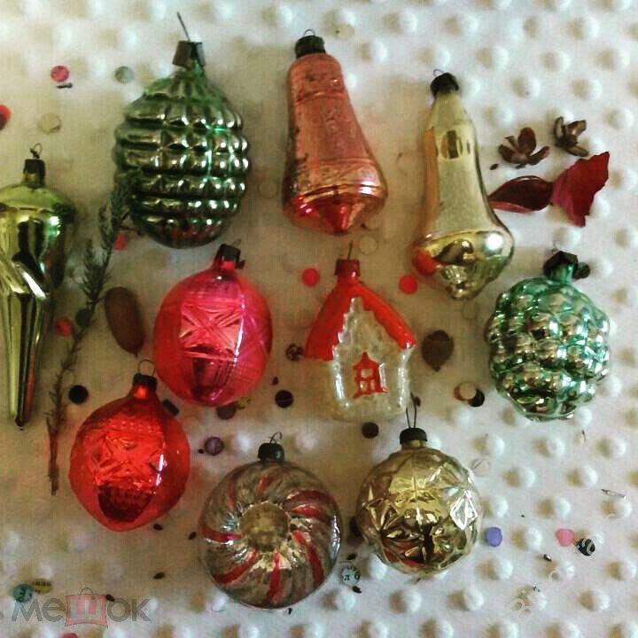 Вашему вниманию представляется коллекция стеклянных ёлочных игрушек ссср периода х годов.