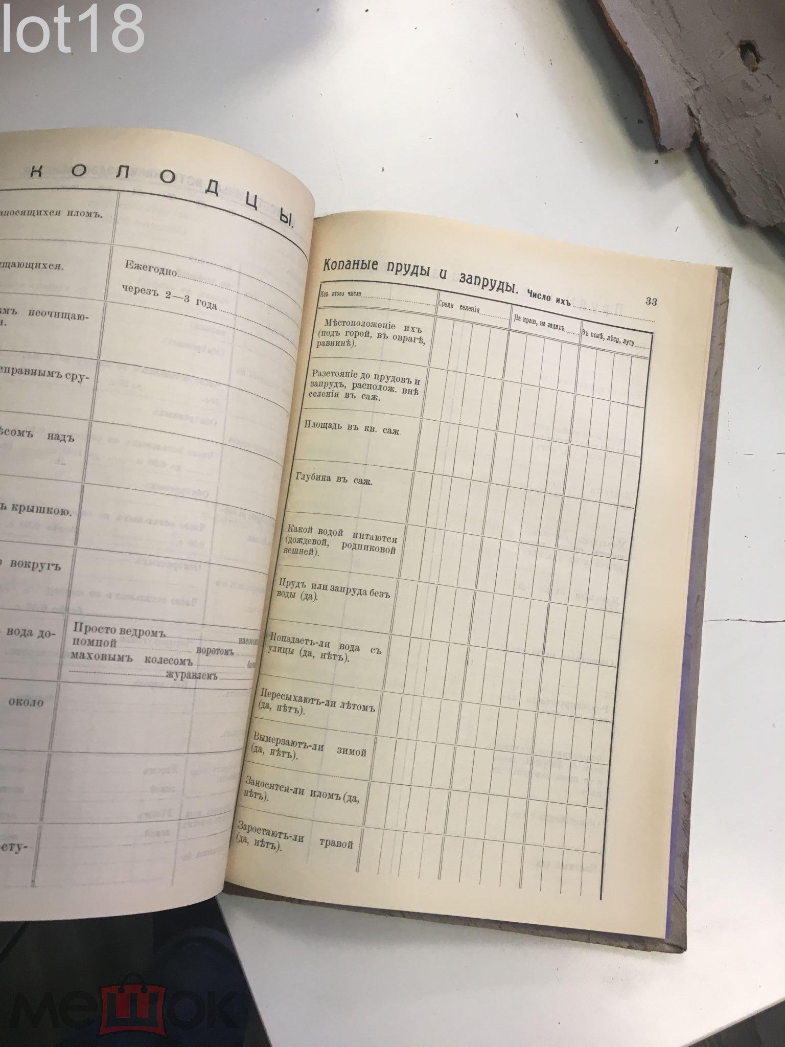Гидротехнические работы по водоснабжению селений в Нижегородской губернии, 1897-1912