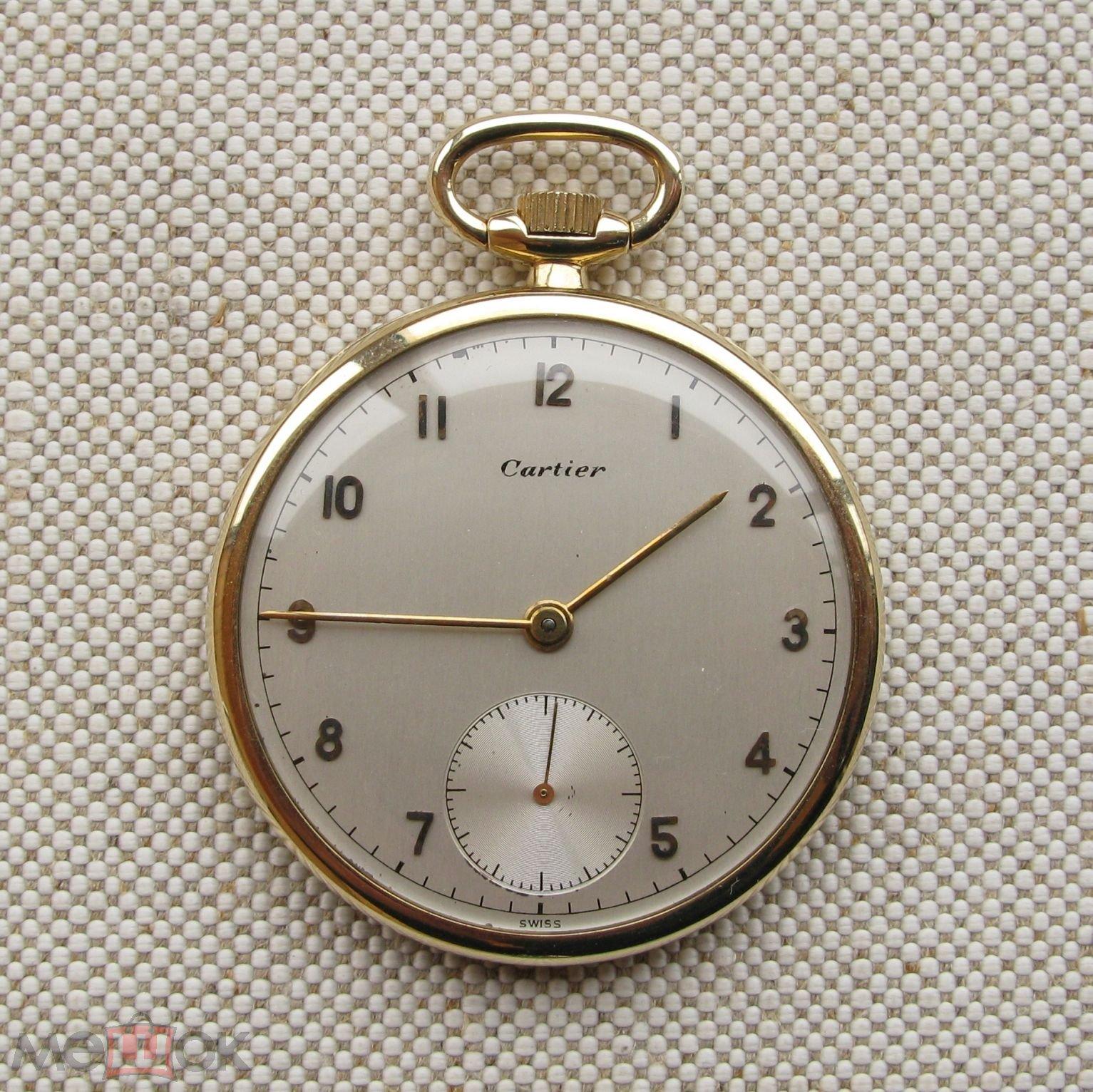 Карманные часы, CARTIER,  CONCORD WATCH Co. , золото 585 проба, калибр 181А, 41.6 грамма, 42.5мм. 19