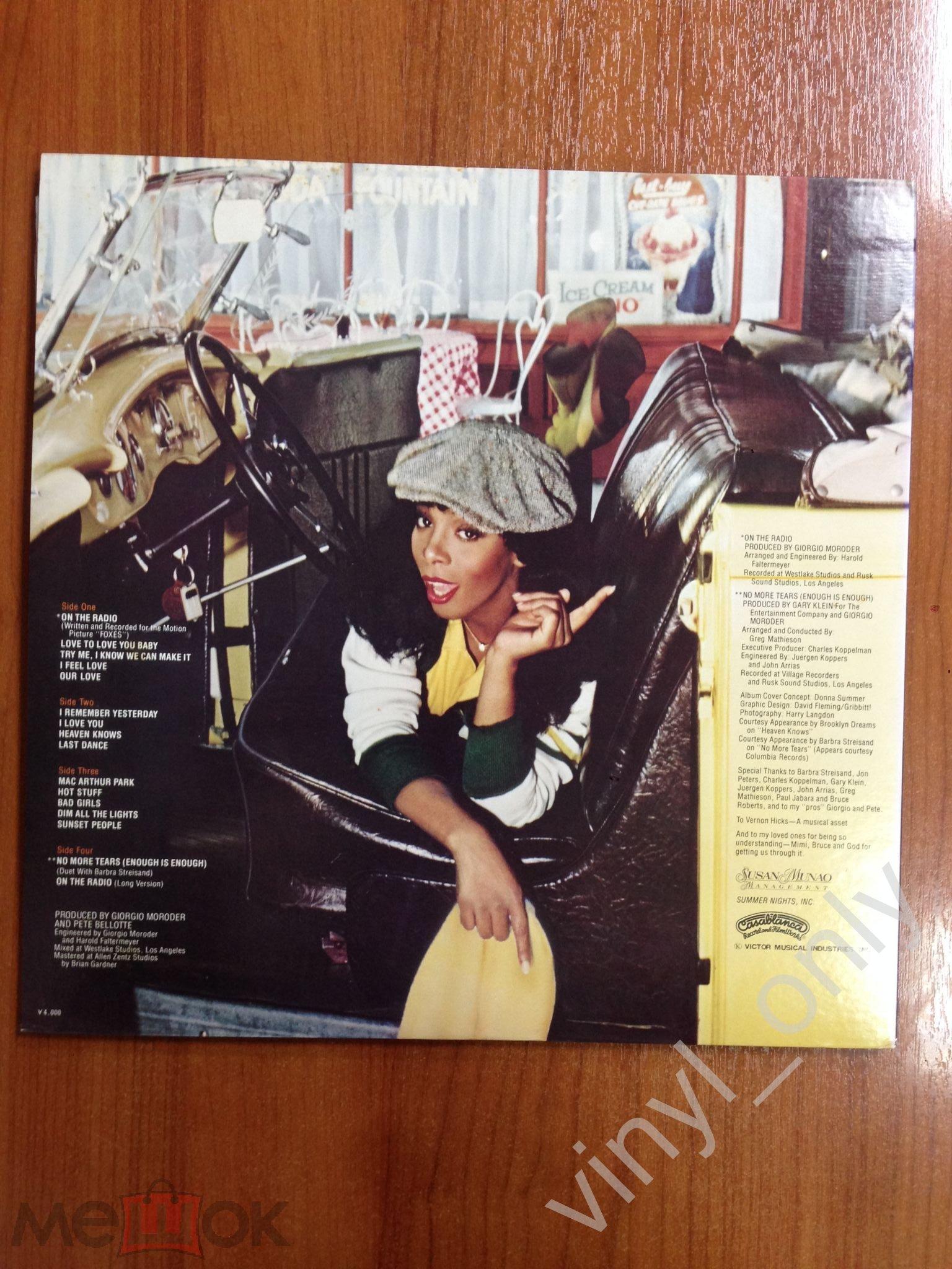 LP Donna Summer – On The Radio - Greatest Hits Vol  I & II 1979 Casablanca  Japan