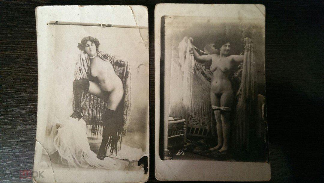 Добрым, ню старинные открытки