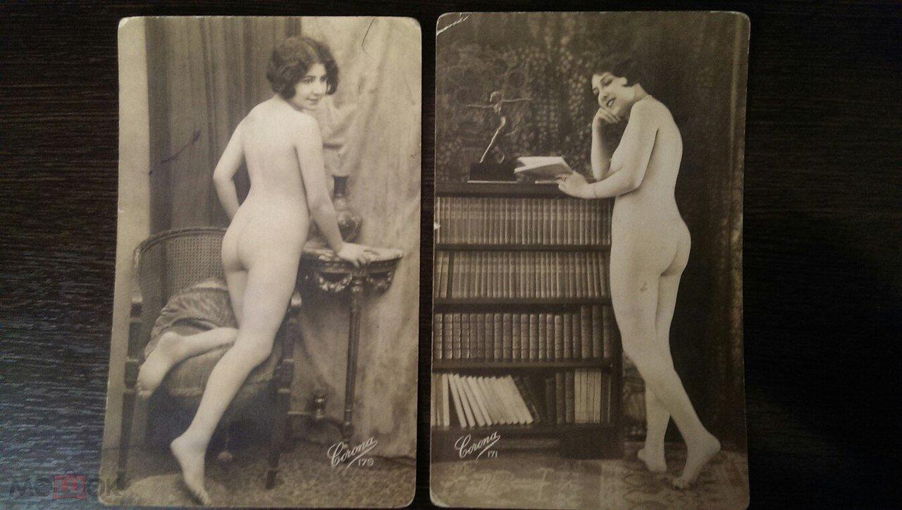 Ню старинные открытки