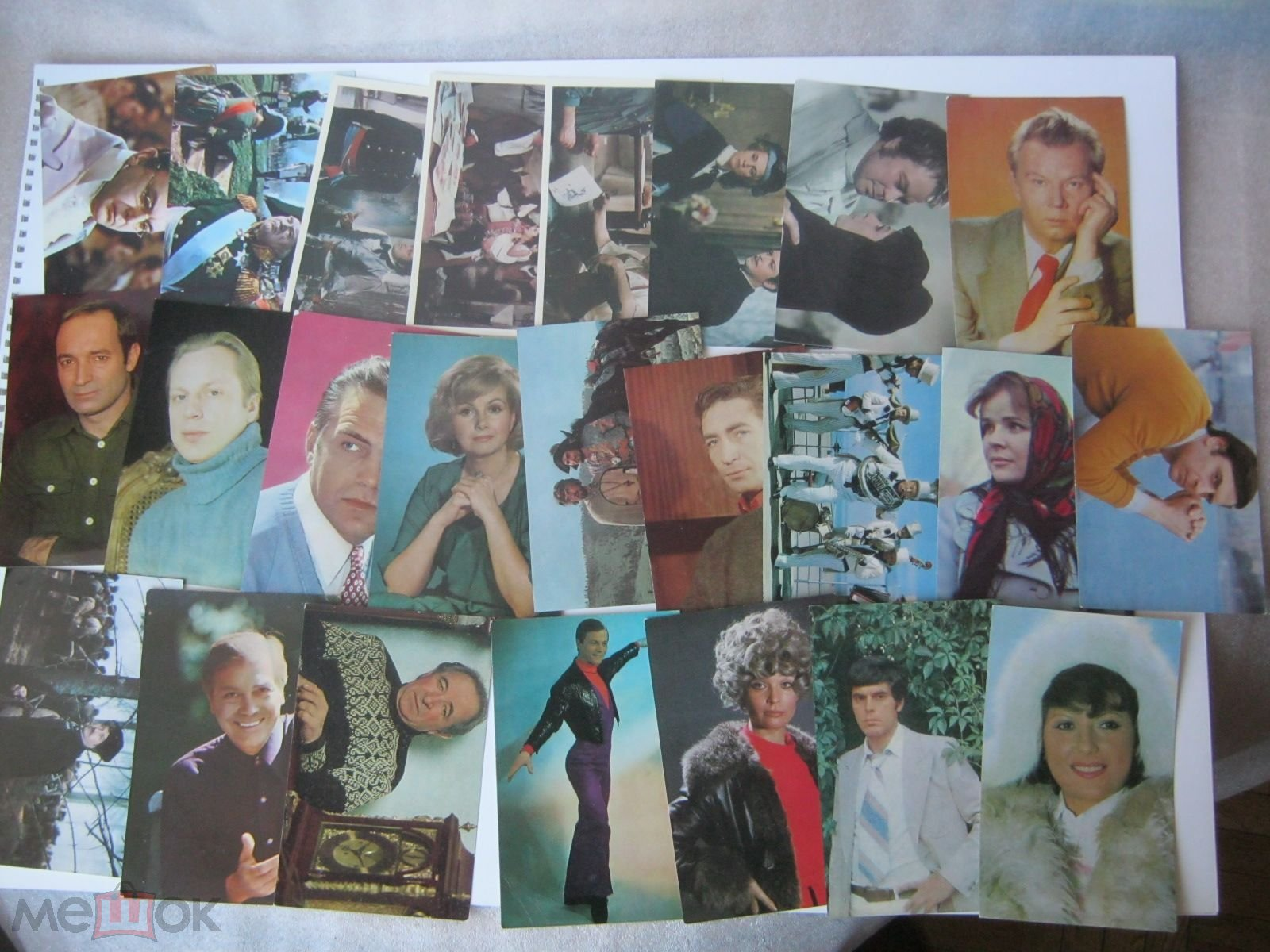 Советские фотографии-открытки артистов, 60-70 гг купить в 94