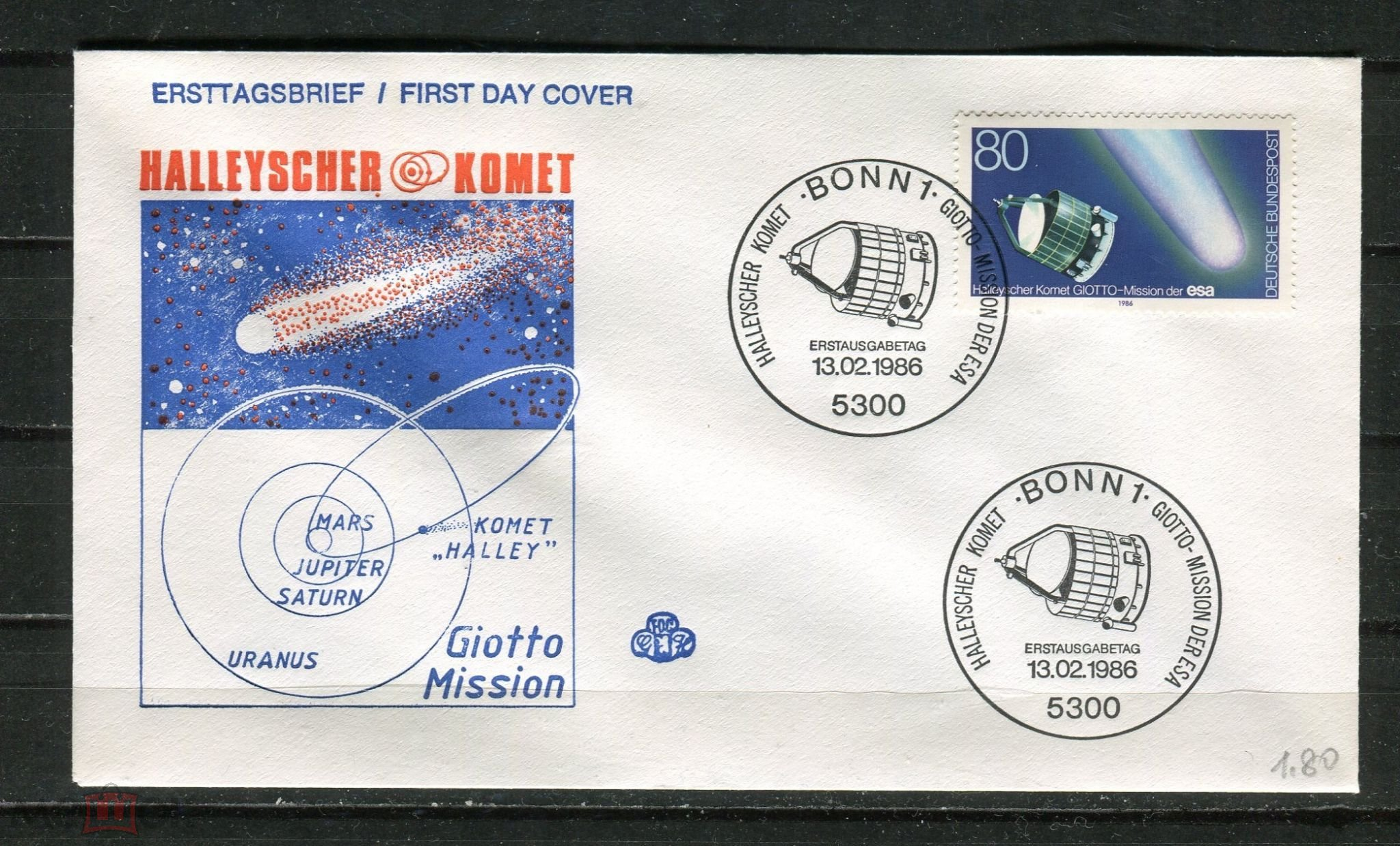 ФРГ 1986 КПД Космос Космическая миссия Комета Галлея