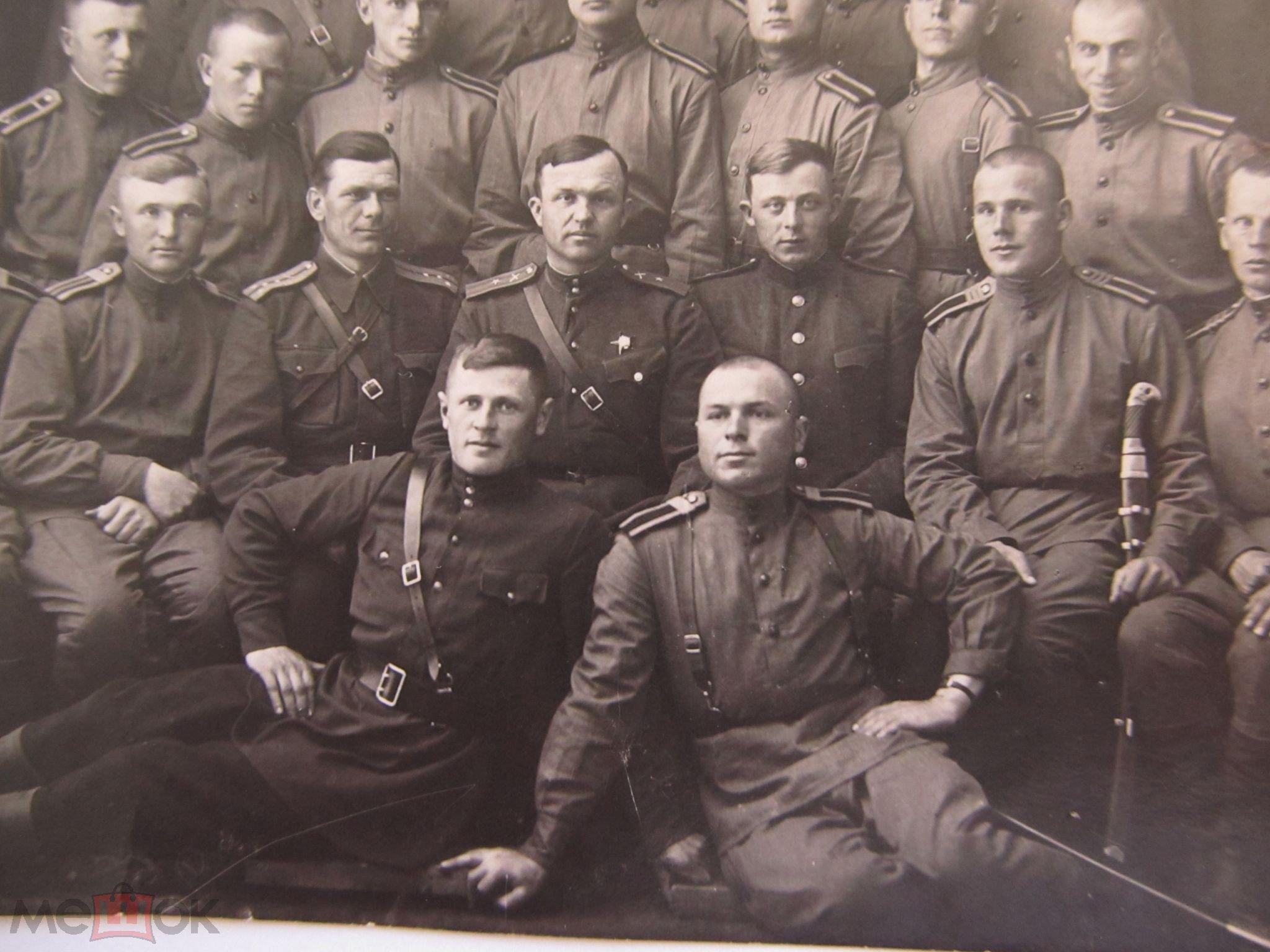 Фото курсантов-фронтовиков. Сумское артиллерийское училище. Ачинск. 1943 год.