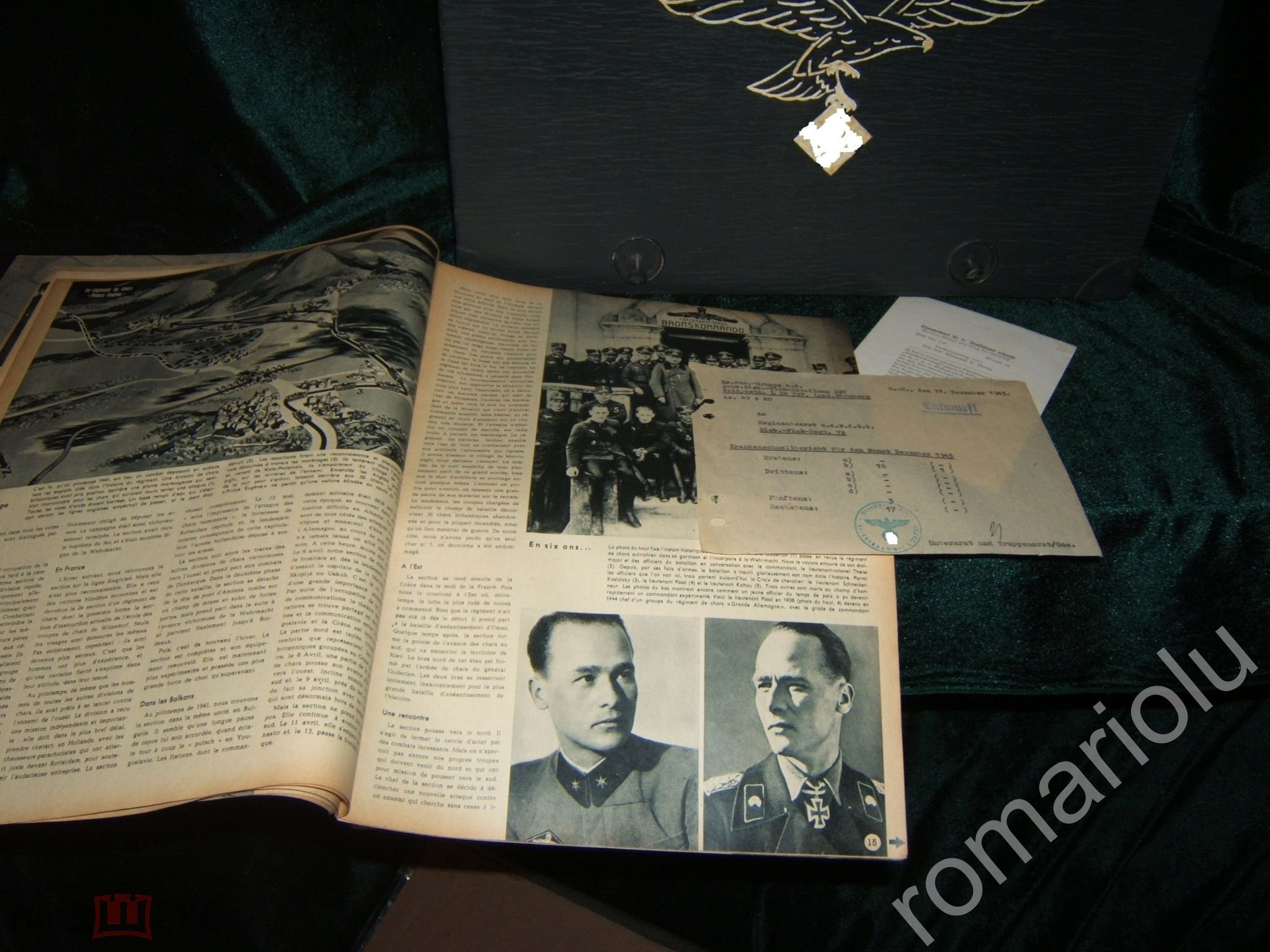 """Военный радиоприемник """"Чемодан Люфтваффе """" Nora K62 WWII 1942 c артефактами-документами РАБОТАЕТ!"""