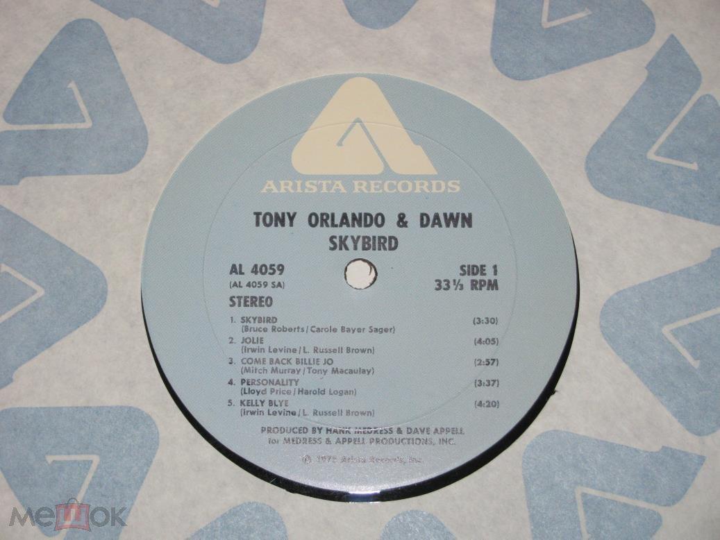 Tony Orlando & Dawn - Skybird / LP / US / 1975 / ЕХ/ЕХ