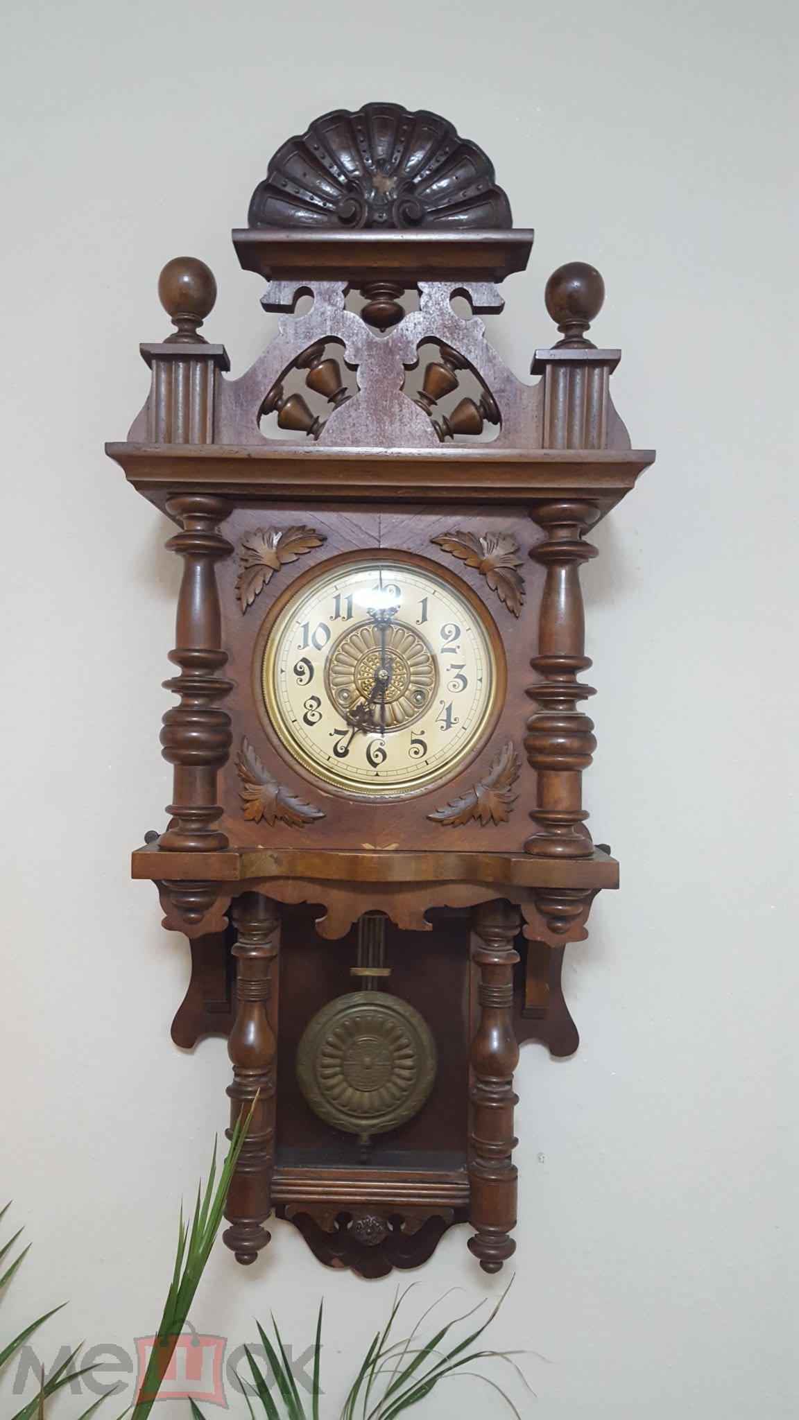 dac984e823522 Старинные настенные часы с боем Junghans, Германия (торги завершены ...