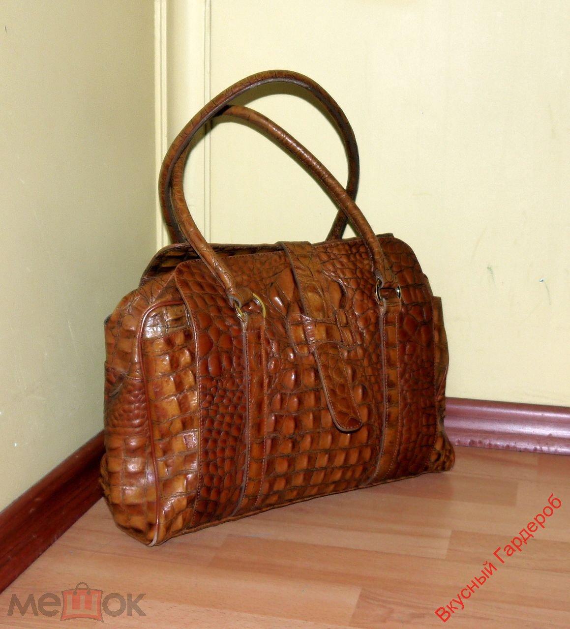 d336882ae804 Bella Donna! Эксклюзивная сумка Domani – натуральная кожа крокодила ...