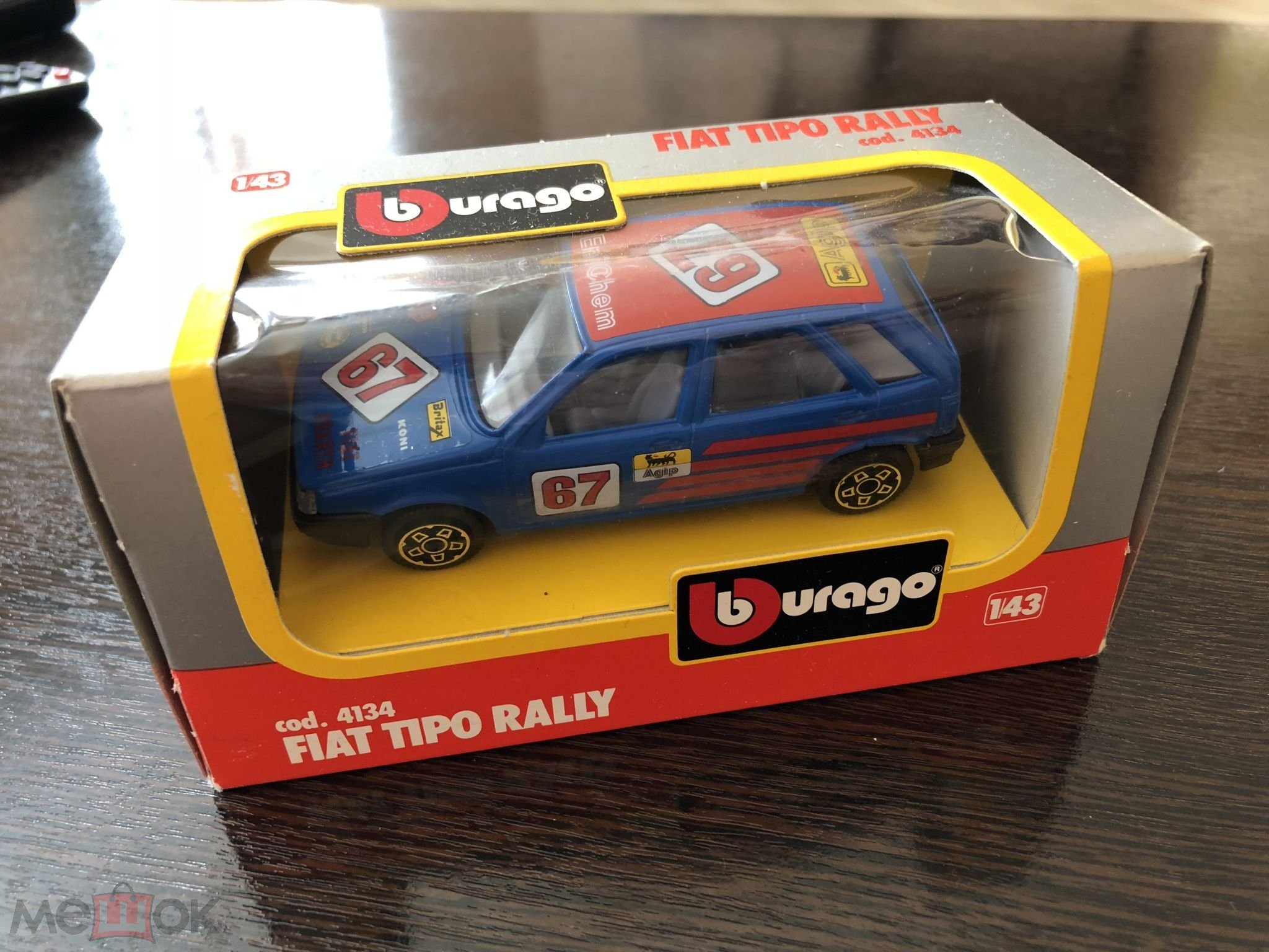 Fiat Tipo Rally Cod 4134 1 43 Made In Italy Burago