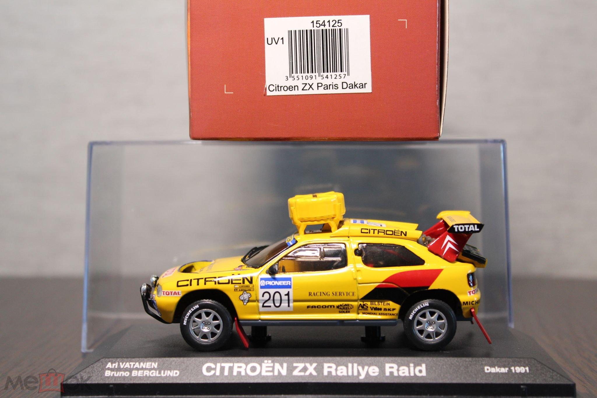 CITROEN ZX RALLY RAID #201 A VATANEN DAKAR 1991 NOREV 154125 1//43