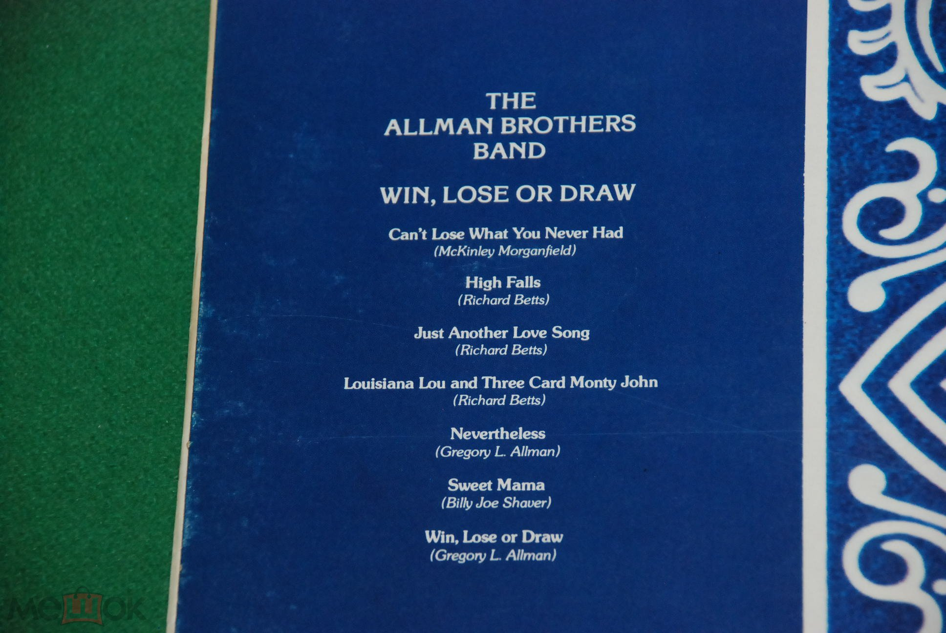 The Allman Brothers Band Win Lose Or Draw 1975 Uk England Lp