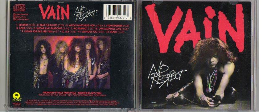 VAIN No Respect CD NO IFPI KIX, CRAZY LIXX, TIGERTAILZ